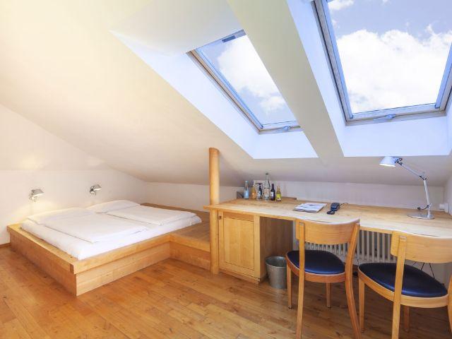 Zimmer im Alten Wirt Grünwald, Foto: Maximilian Sydow