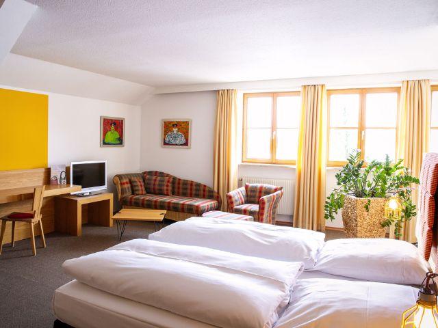 Zimmer im Hotel Gut Schwaige, Foto: Kontrapixel