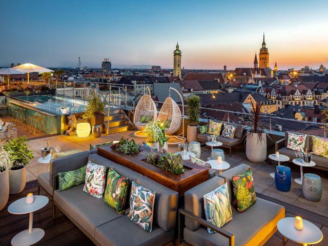 Die Dachterrasse des Hotels Mandarin Oriental, Foto: Vadim Kretschmer