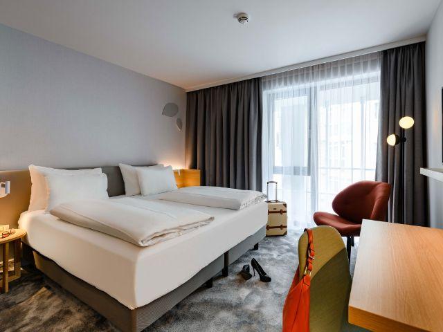 Ein Zimmer im Mercure Hotel Schwabing, Foto: Christoph Weiss