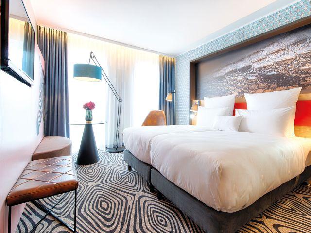 Ein Zimmer im NYX Hotel Munich, Foto: NYX Hotel