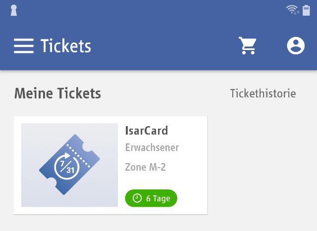 MVG App: Meine Tickets, Foto: MVG