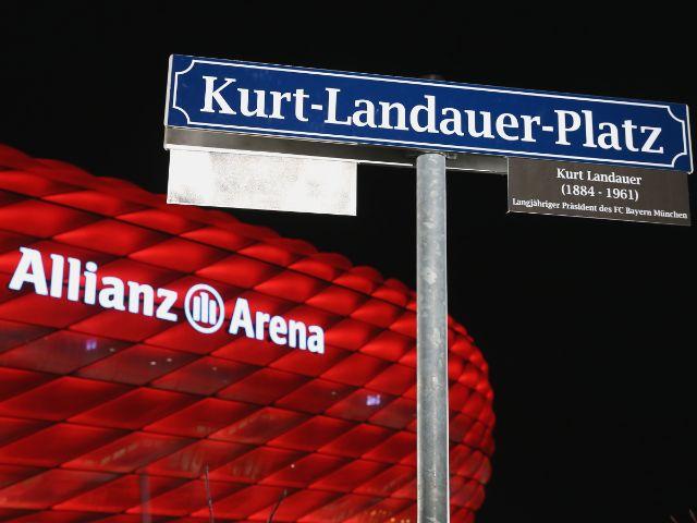 Einweihung des Kurt-Landauer-Platzes vor der Allianz Arena, Foto: FC Bayern München
