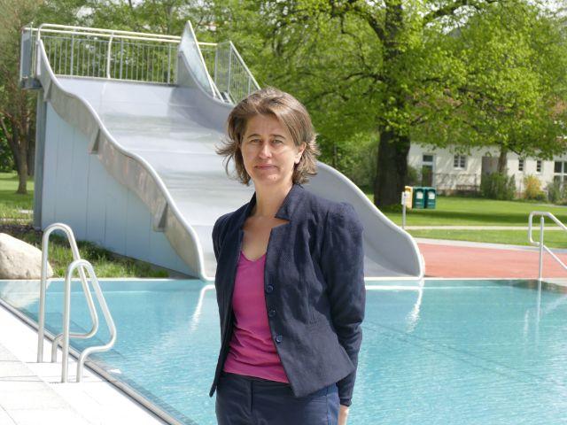 Die Chefin der M-Bäder Christine Kugler., Foto: muenchen.de/Sebastian Binder