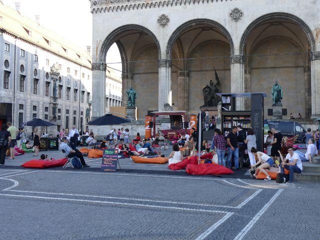 StadtLesen am Odeonsplatz, Foto: muenchen.de/Mark Read