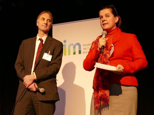 Ralf Gabriel, Vorstand TIM e.V. und Geschäftsführer Münchner Kultur GmbH und Geraldine Knudson, Leitung München Tourismus, Foto: Leonie Liebich