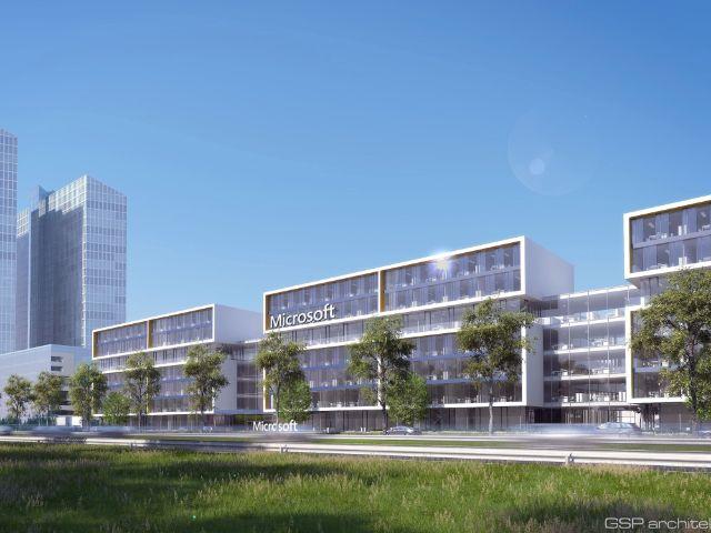 Grundsteinlegung der neuen Microsoft-Zentrale., Foto: Microsoft Corporation