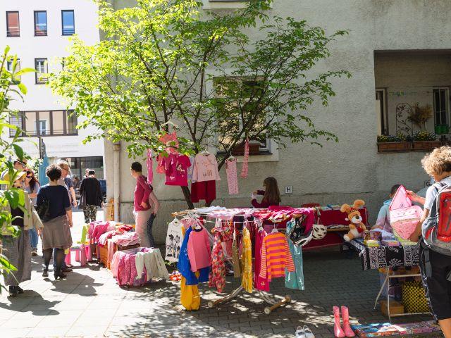 Hofflohmarkt in München, Foto: muenchen.de/Katy Spichal