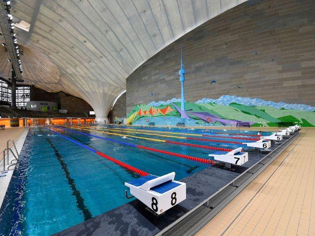 Blick in die Olympia-Schwimmhalle., Foto: SWM