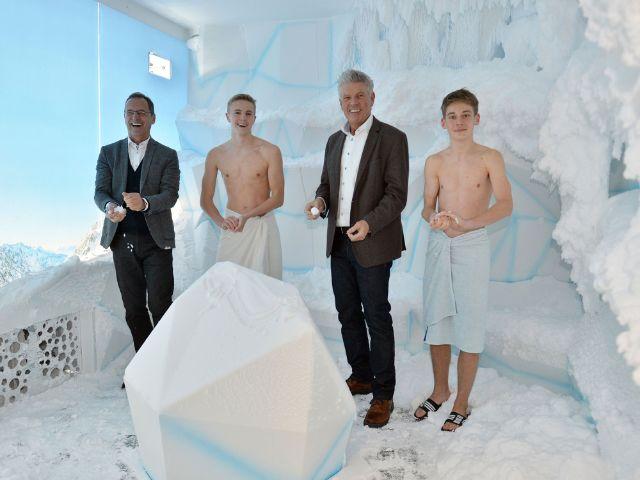 Die neue Schneekabine in der Olympia-Schwimmhalle, Foto: SWM / Astrid Schmidhuber