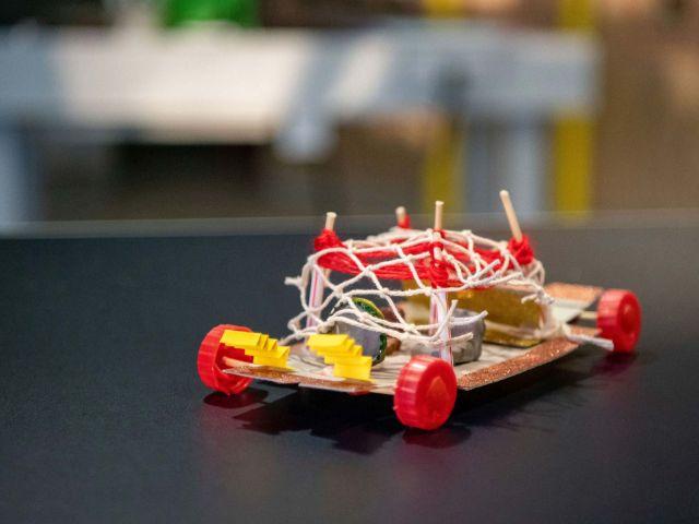 Leichtbaufahrzeug aus einem Online-Workshop, Foto: BMW AG