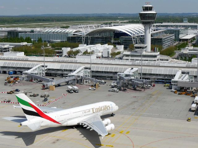 Ein A380 auf dem Rollfeld, Foto: Flughafen München
