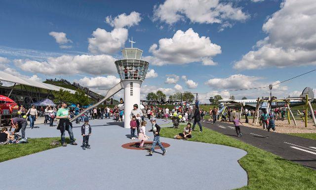 Erlebnisspielplatz im Besucherpark, Foto: Flughafen Besucherpark