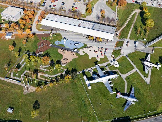 Luftbild des Besucherparks, Foto: Flughafen Besucherpark