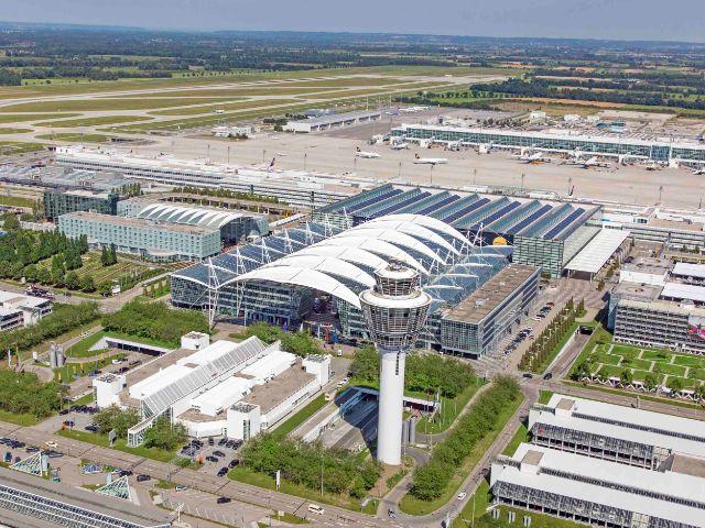 Flughafen München von oben, Foto: Flughafen München