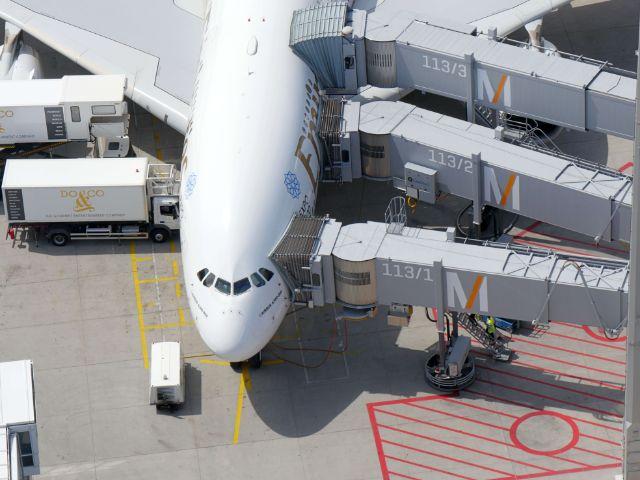 Flugzeug auf dem Rollfeld, Foto: Flughafen München