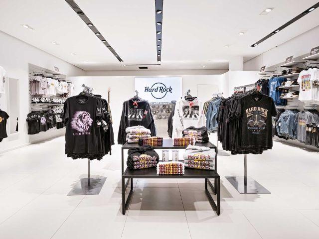 Der Shop des Hard Rock Cafe am Flughafen München, Foto: Flughafen München