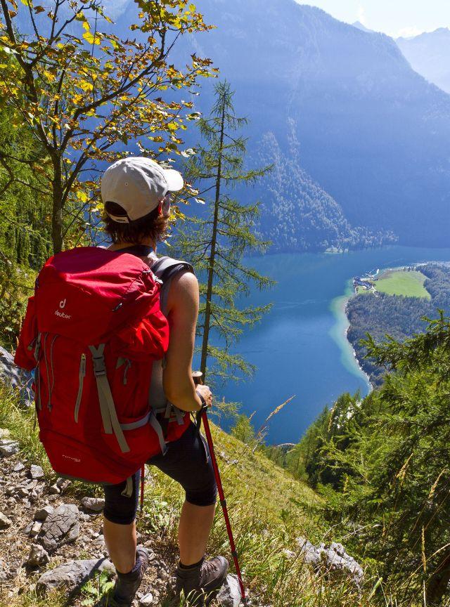Blick auf den Königssee vom Einstieg in den Rinnkendlsteig, Foto: Berchtesgadener Land Tourismus/T.Kujat