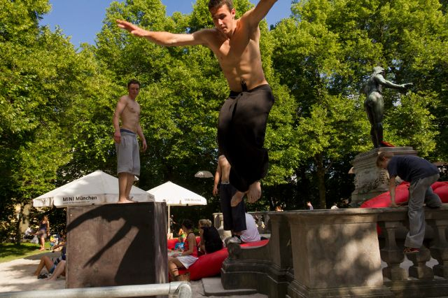 Parkour am Kulturstrand