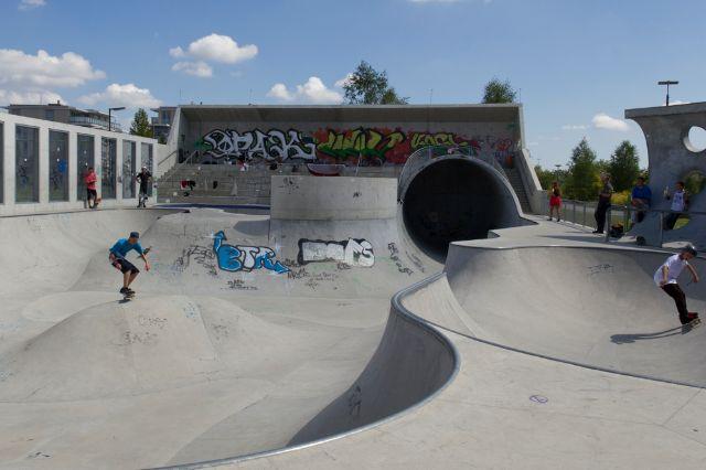 Skateanlage im Hirschgarten, Foto: Katy Spichal