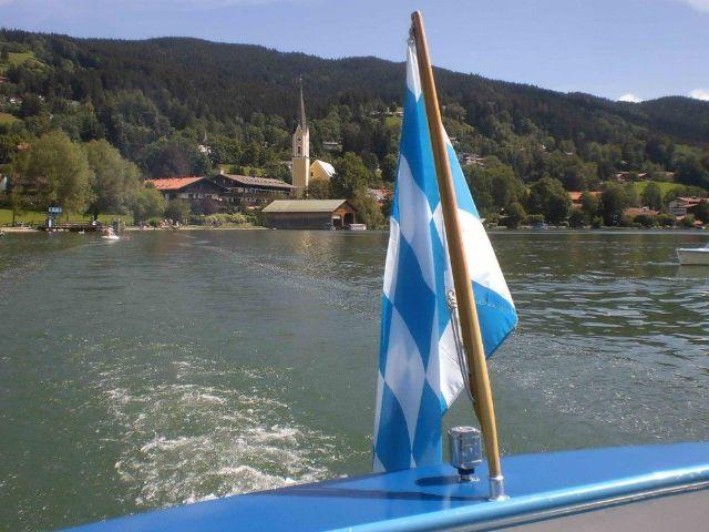 Der Schliersee - Blick vom Motorboot, Foto: Karl B. Kögl, Schliersee
