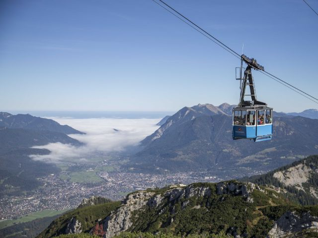 Garmisch-Partenkirchen und Zugspitzgebiet, Foto: Bayerische Zugspitzbahn Bergbahn AG