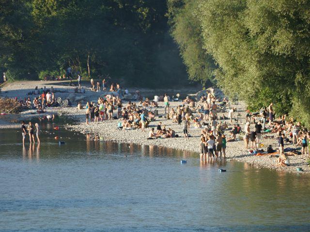 Sommer an der Isar (Flaucher), Foto: muenchen.de/Vauelle