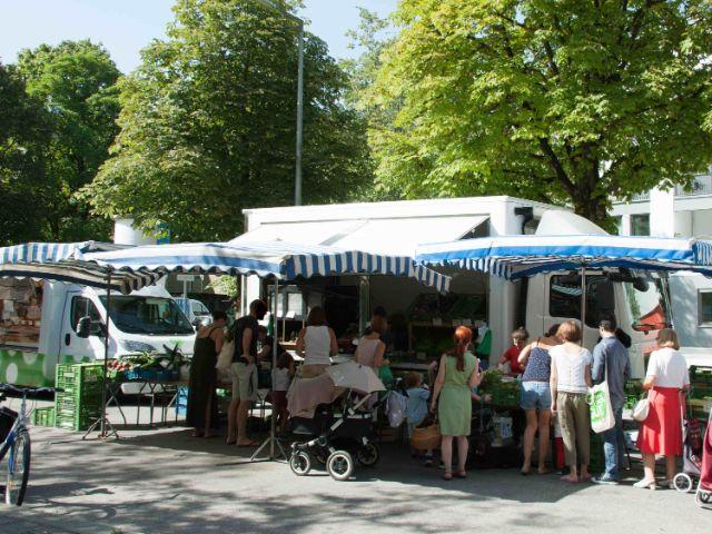 Bauernmarkt in Sendling, Foto: Photopraline