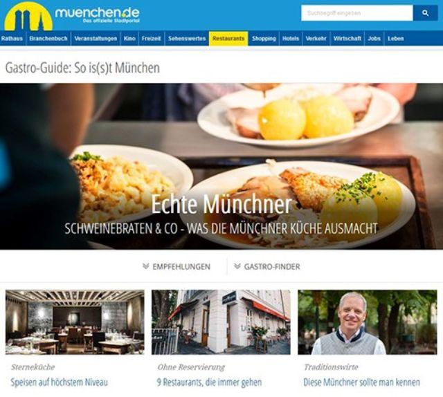 Neuer Gastro-Guide von muenchen.de, Foto: muenchen.de