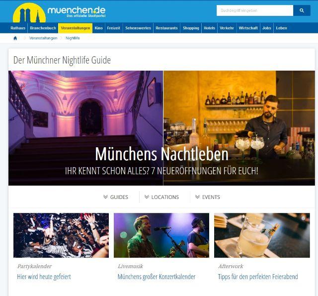 Der Nightlife Guide von muenchen.de