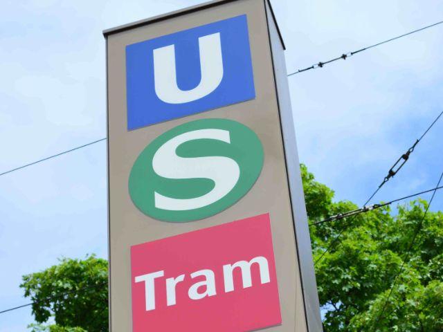 Schild zu U-Bahn, S-Bahn und Tram, Foto: MVV