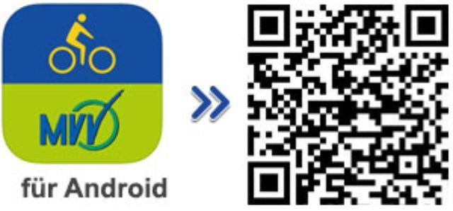 QR-Code für die Android-App des MVV-Radroutenplaners