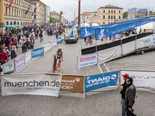 """Bild zur Kampagne """"Radlhauptstadt München""""., Foto: Andreas Schebesta/Radlhauptstadt München"""