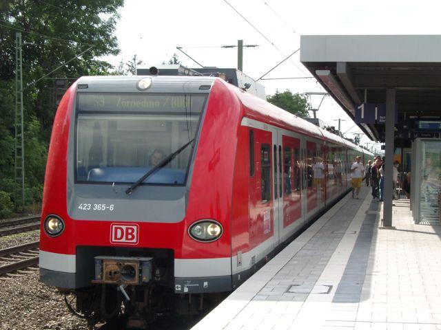 Travelling by Munich S-Bahn <br>(urban rail)