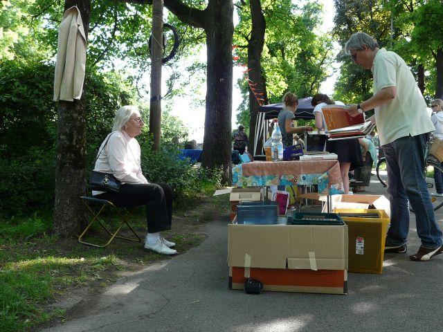 Der Lisar Bücherflohmarkt., Foto: Yasemin Merx