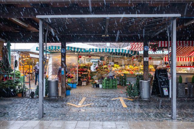 Der Eingang zum Pasinger Viktualienmarkt, Foto: Anette Göttlicher