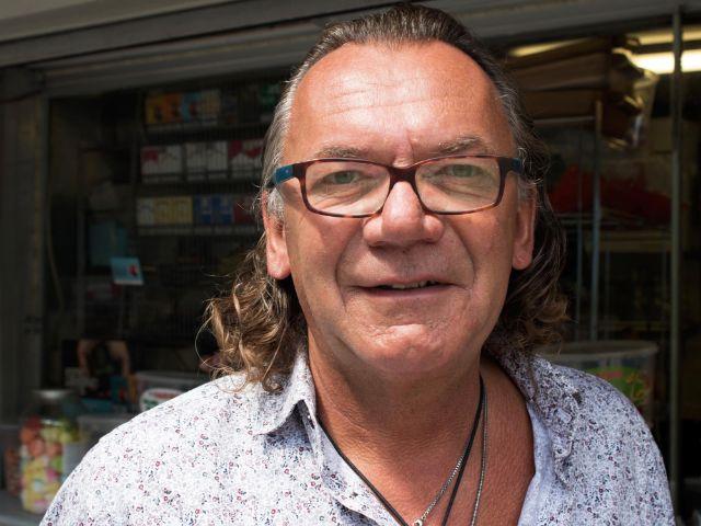 Besitzer vom Flamingo-Kiosk Günther Lorenz
