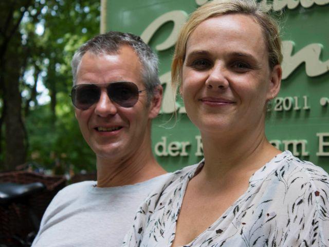 Die Besitzer vom Fräulein Grüneis: Henning Dürr und Sandra Dürr, Foto: Rico Güttich