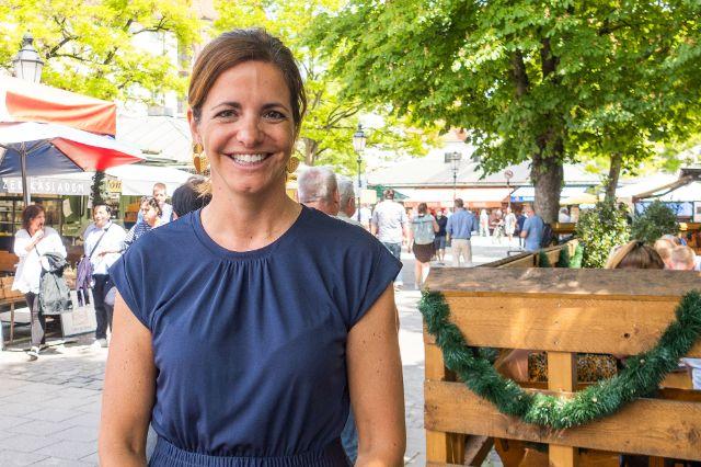 Kommunalreferentin und oberste Marktfrau Kristina Frank, Foto: Anette Göttlicher