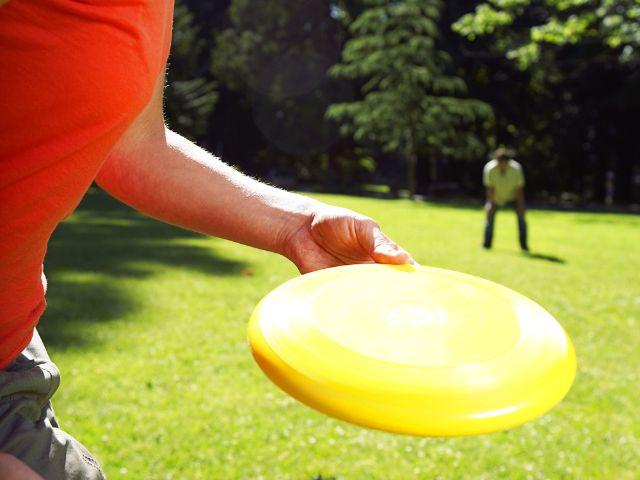 Frisbee spielen im Park, Foto: Carlos Horta / Shutterstock.com
