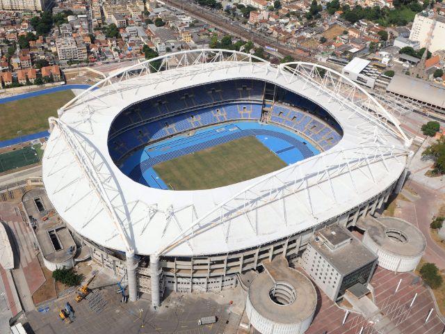 Das Olympiastadion in Rio de Janeiro