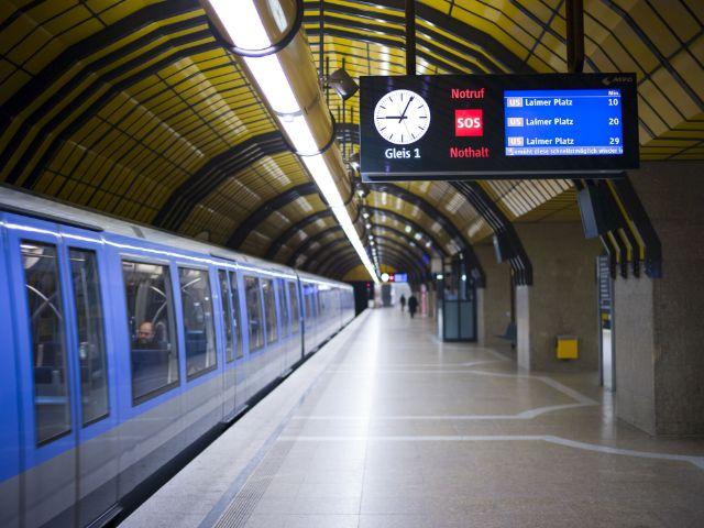 Stehende U-Bahn Theresienwiese