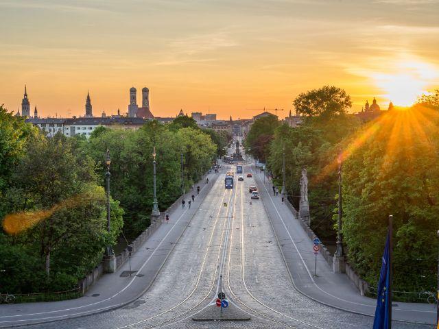 Abendsonne am Maximilianeum