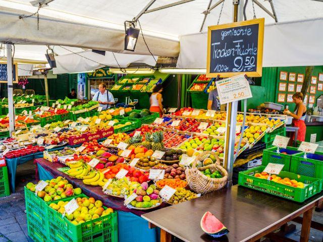 Obststände auf dem Viktualienmarkt