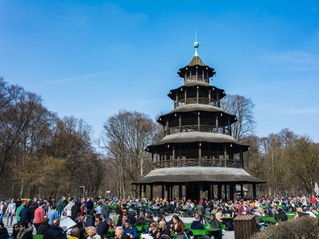 Chinesischer Turm im Frühling, Foto: muenchen.de/Michael Hofmann