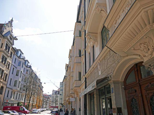 Glockenbachviertel: Hans-Sachs-Straße, Foto: muenchen.de/Leonie Liebich