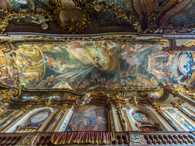 Asamkirche: Deckenmalerei, Foto: muenchen.de/ Michael Hofmann