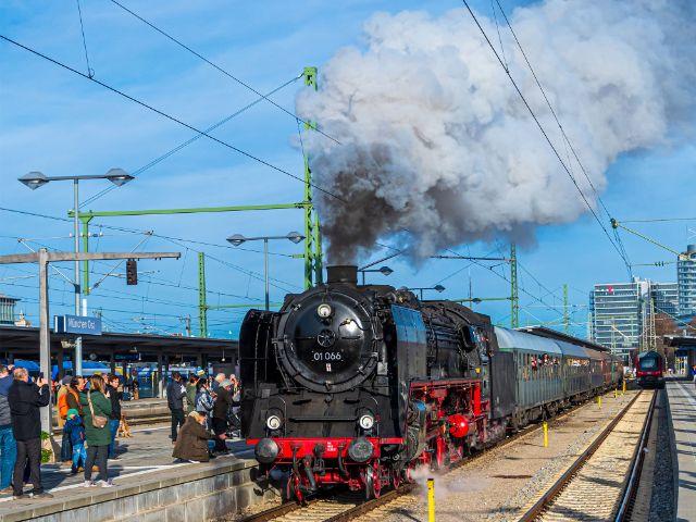 Dampflok des Eisenbahnmuseums, Foto: muenchen.de/Michael Hofmann