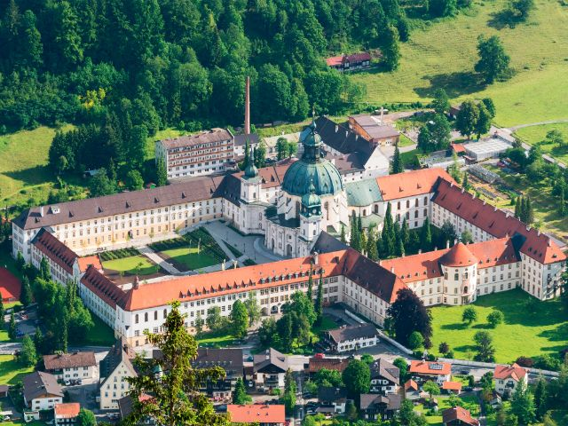 Kloster Ettal - Luftaufnahme