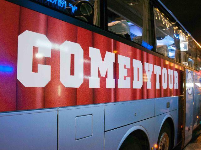 Bus der ComedyTour von außen, Foto: ComedyTour München